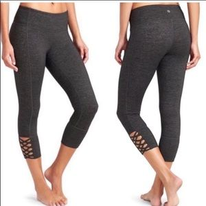 Athleta Mind Over Mat Criss Cross capri legging